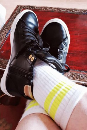 LETZTER PREIS NUR FÜR KURZE ZEIT !!!! Tennis Socken Neon gr.36-38 Socken 80er Kult