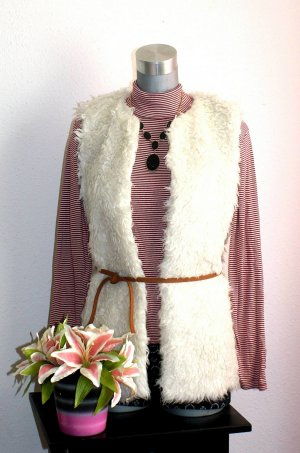 H&M Fur vest cream-brown