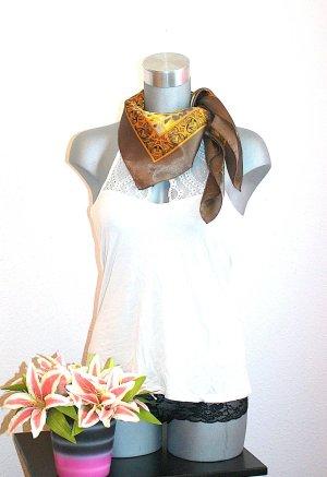 Pañoleta color oro-marrón