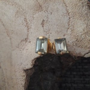 Ear stud gold-colored-khaki