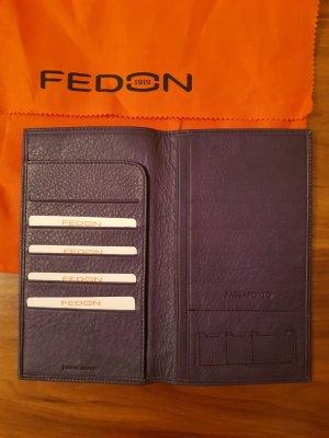 Letzter Preis Organizer Passetui Fedon Italy Leder violett Neu