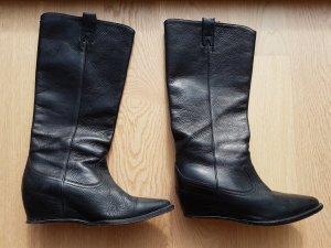 Balenciaga Jackboots black leather