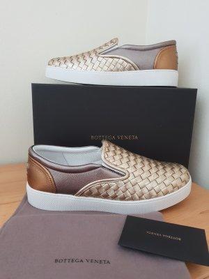 Letzter Preis Original Bottega Veneta Sneaker Gold Gr. 39 Neuwertig