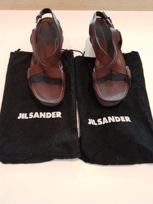 *letzter Preis * Original Gil Sander Plateau Sandalen aus Leder Grösse 40