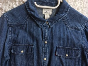 Letzter Preis! Original Levi's Jeanshemd, Denim Shirt, Dunkelblau, Größe L