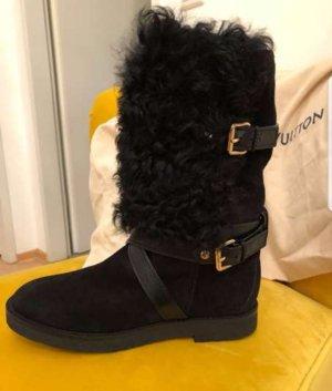 Louis Vuitton Laarzen met bont zwart