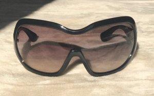 Prada Hoekige zonnebril zwart Acetaat