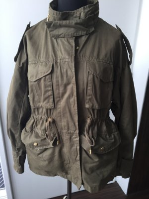 LETZTER PREIS!!! Parker / Anorak Jacke oliv Military Style mit Gold