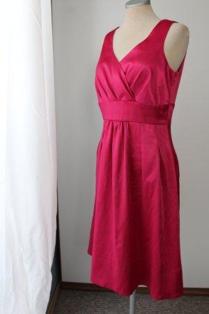 letzter Preis! pink Sommerkleid Gr. 40 M Trägerkleid  Satin Cocktailkleid Kleid knielang Satinkleid
