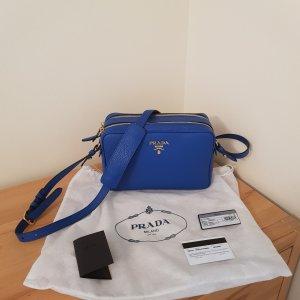 Letzter Preis Prada Bandoliera Camera Bag Azzuro Neu