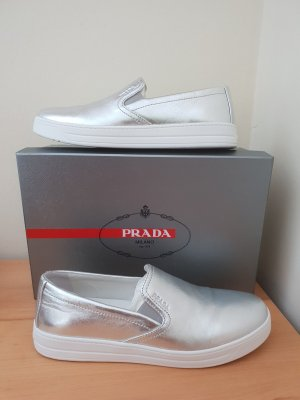 Prada Slippers white-silver-colored