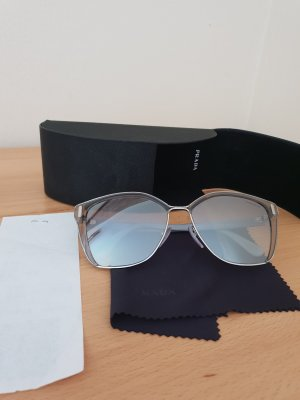 Letzter Preis Prada Sonnenbrille Grau Silber Neu