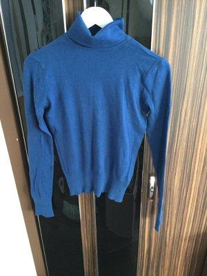 Letzter Preis!!! Pullover Rollkragen Langarm Basic Baumwolle blau