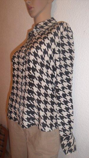 LETZTER PREIS!!! Schöne Bluse mit 40% Seide Hahnentritt von Heine