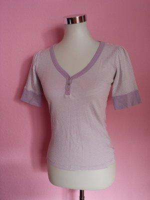 Stripe Shirt mauve-white
