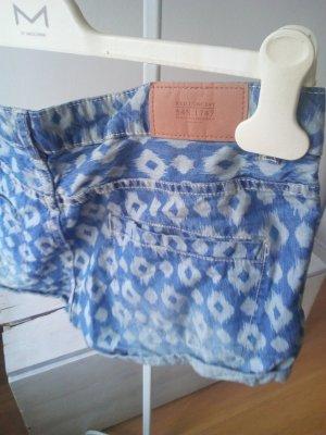 Letzter Preis!!! Shorts Hot Pants Jeans Ethno Hippie Festival Summer blau