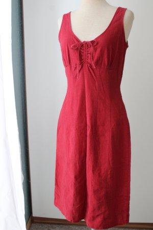 letzter Preis!!!Sommerkleid Etuikleid dunkelrot Gr. 36 Biaggini 55%Flachs 45%Viskose