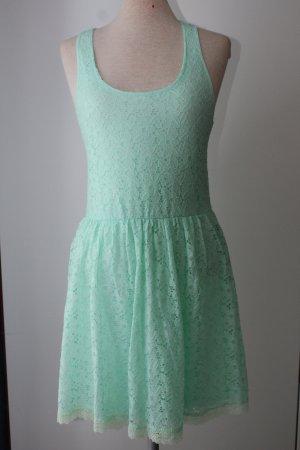 letzter Preis!!!Sommerkleid Spitzenkleid Kleid knielang Ann Christine pastellgrün Spitze Gr. S M 38