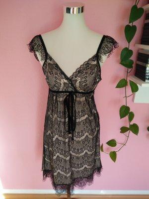 *Letzter Preis* Spitzenkleid für Weihnachten/Silvester in schwarz/nude (K1)