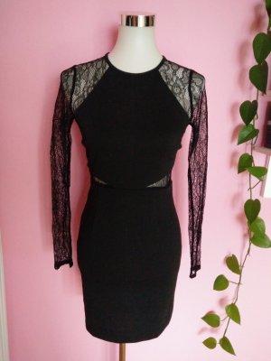 BCBG Kanten jurk zwart Polyester