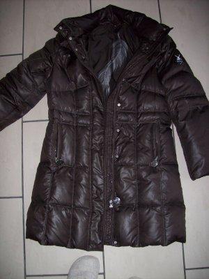 Sportalm Abrigo de plumón marrón-negro Poliéster