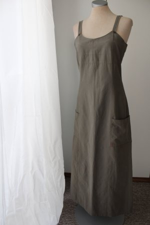 letzter Preis!!!Street One Gr. 38 S M olivgrün khaki Trägerkleid Maxikleid Midikleid knöchellang Sommerkleid