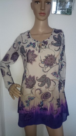 LETZTER PREIS!!! Süße Tunika-Bluse mit floralem Muster und Schmetterlingen