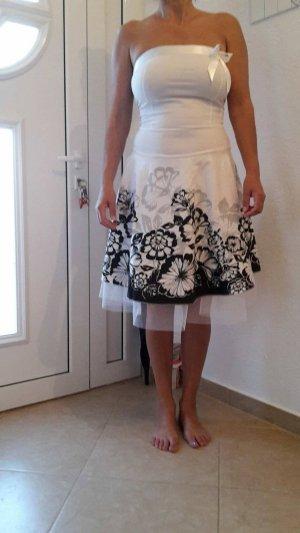 Italia Moda Robe avec jupon multicolore tissu mixte