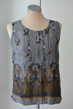 letzter Preis!!!Top 100% Baumwolle Kraniche Papageien Bali Gr. 38 S M Oberteil