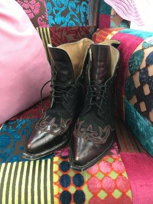 LETZTER PREIS!!! * Total hippe Boots * Stiefeletten * Westernstyle * Echtleder