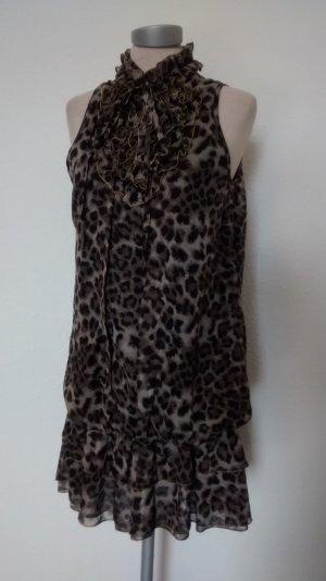 Letzter Preis!!! Yumi Minikleid leo gerüscht Gr. M L 38 40 Kleid Partykleid Tunikakleid neu