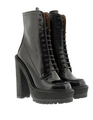Letzter Sale! Givenchy Rottweiler Ankle Boots Stiefeletten schwarz Lack Leder