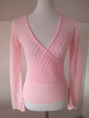 letzter Sale%%wunderschöner Pulli,Shirt in rosa,Gr.S/36,Lochmuster