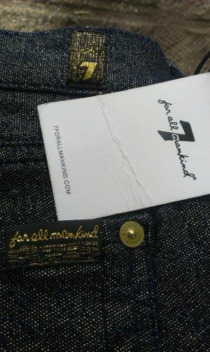letzter Sommer Preis!!! 7 for all Mankind, Jeans mit Goldmetallfaden