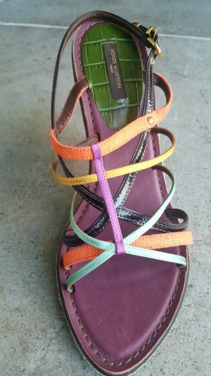 Louis Vuitton Strapped High-Heeled Sandals multicolored leather