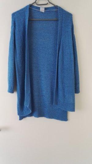Leuchtend blauer Cardigan aus Strick