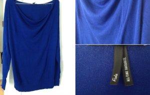 Leuchtend blauer Feinstrick-Pullover von Zero wie neu