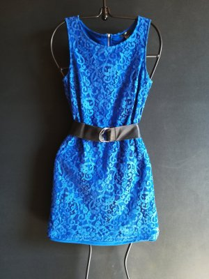H&M Robe en dentelle bleu