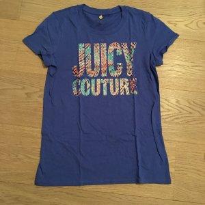 Leuchtend blaues T-shirt mit Druck