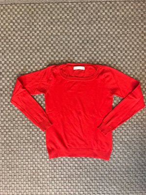 Leuchtend Roter Feinstrickpullover Zara S Pullover rot orange Pulli Top langärmelig