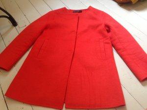 Hallhuber Cappotto stile pilota rosso-rosso chiaro