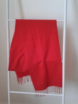 Leuchtend Roter Schal in Cashmink-Qualität