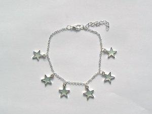 Leuchtendes Armband Sterne Silberfarben