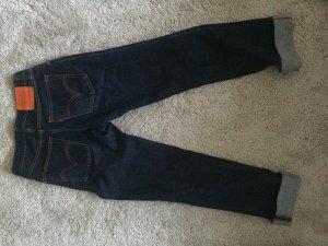 Levi's Jeans met rechte pijpen donkerblauw-donker oranje Textielvezel