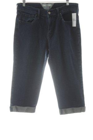 Levi's Jeans 3/4 bleu foncé-blanc cassé style décontracté