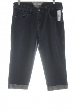 Levi's Jeans a 3/4 blu scuro-bianco sporco stile casual