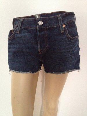 LEVI'S 501 blue Jeans 25 Hot Pants Shorts 36 Festival