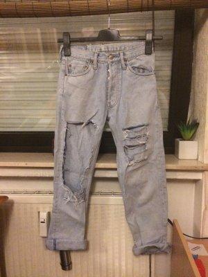 Levi's 501 destroyed DIY Mom Jeans W27 L36