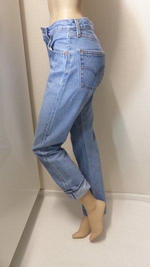 Levi's Jeans boyfriend bleu azur coton