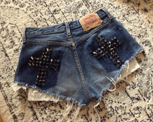 Levi's 501 High Waist Denim Shorts Jeans Kurze Hose Festival